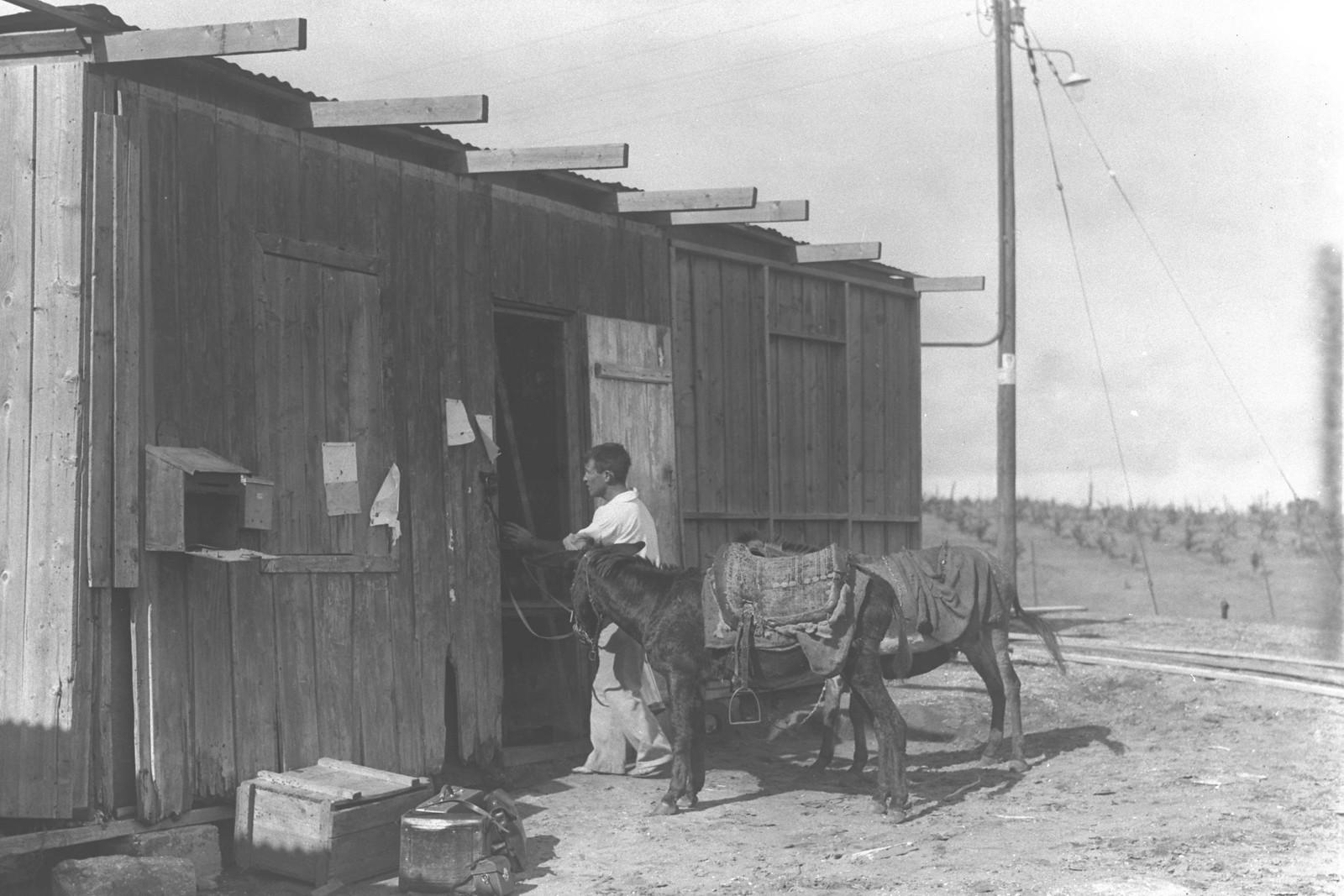 1934. Продовольственный магазин в мошаве Кфар-Виткин