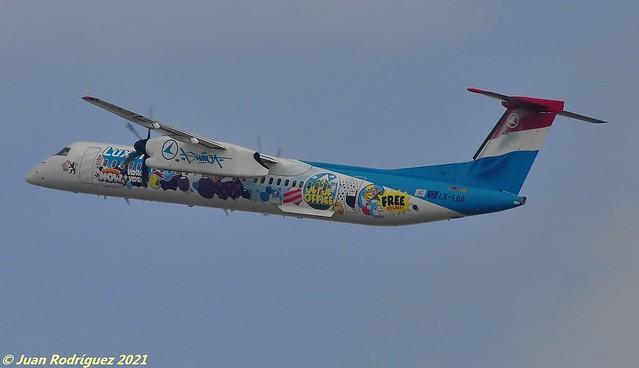 LX-LQA - Luxair - Bombardier DHC-8-402Q Dash 8 - PMI/LEPA