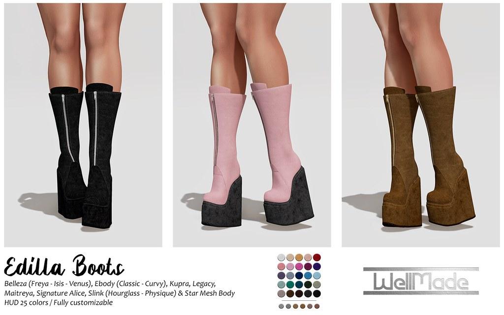 [WellMade] Edilla Boots