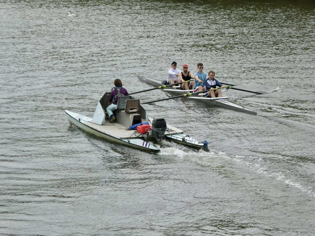 Rowing on the Thames at Reading