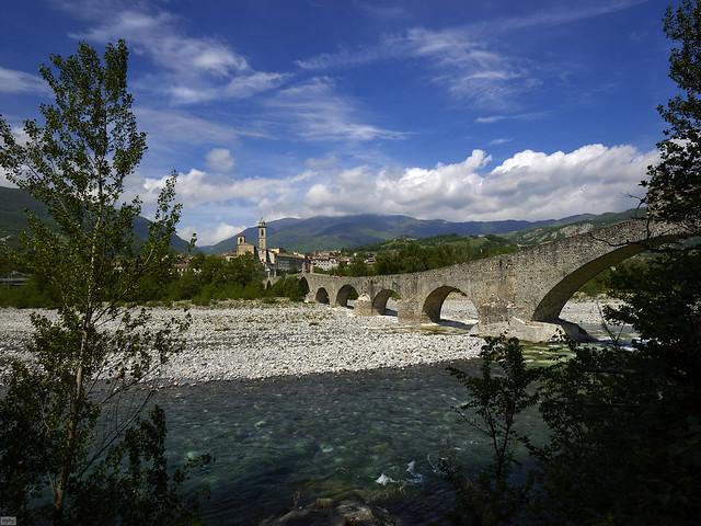Bobbio nella valle del Trebbia