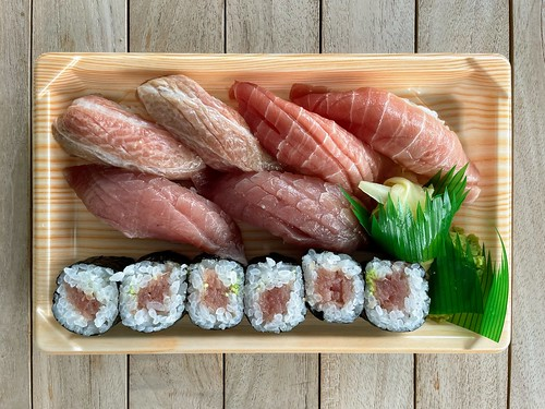 Tomi Sushi's Maguro Zanmai Assorted Tuna Sushi