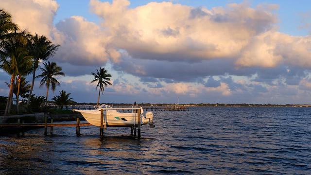 Golden Evening at St Lucie River Outlet, Florida