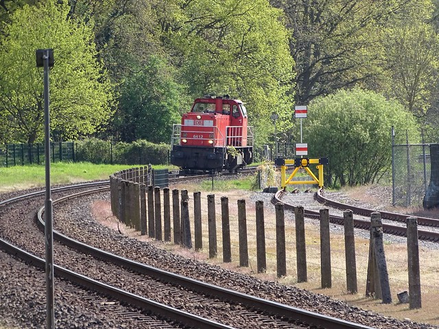 Diesel Locomotive DB Cargo 6412 at Venlo the Netherlands , May 7-2021