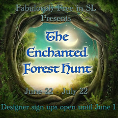 Fab Free Enchanted Forest Hunt sign