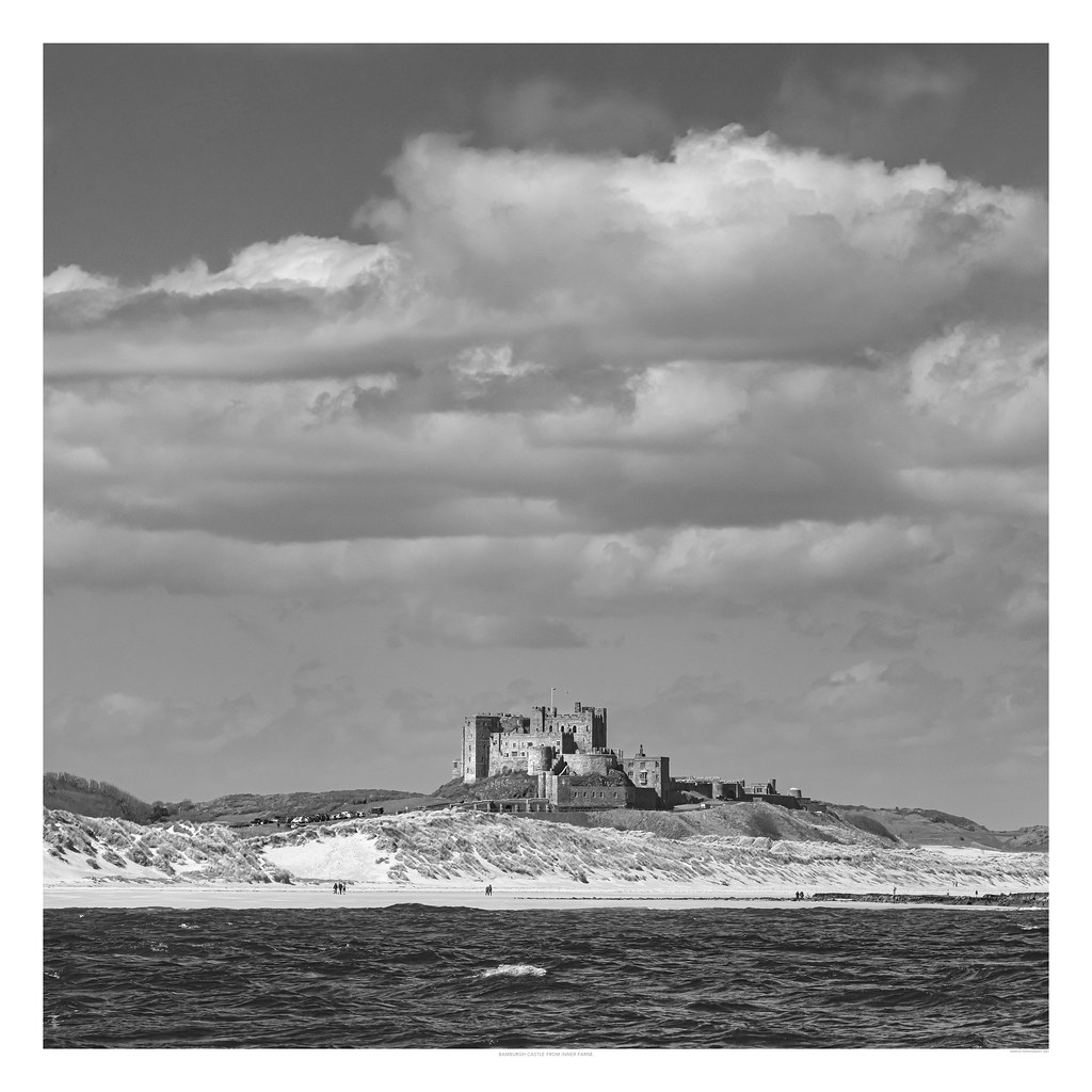 Bamburgh Castle from Inner Farne