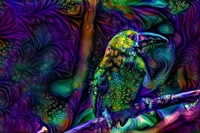 Green Exotic Bird