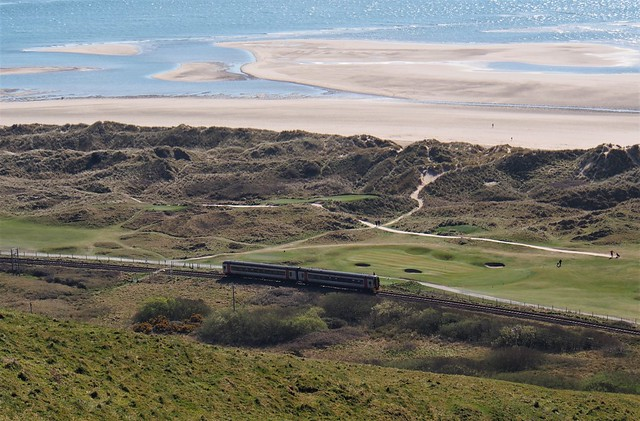 Cambrian Coast line view (and Aberdyfi golf links) ....