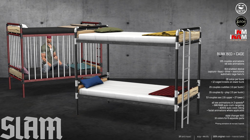 SLAM // bunk bed + cage @ MAN CAVE