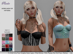 55L$ NEW!!! *P* Andrea Mesh Top ~15 Patterns HUD~