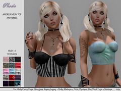 55L$ NEW!!! *P* Andrea Mesh Top ~15 Patterns HUD~