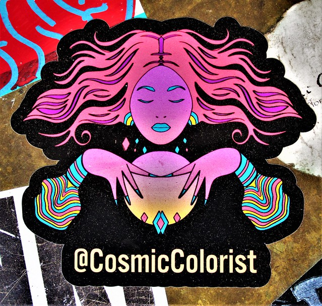 Sticker. Lower Manhattan . Cosmic Colorist.