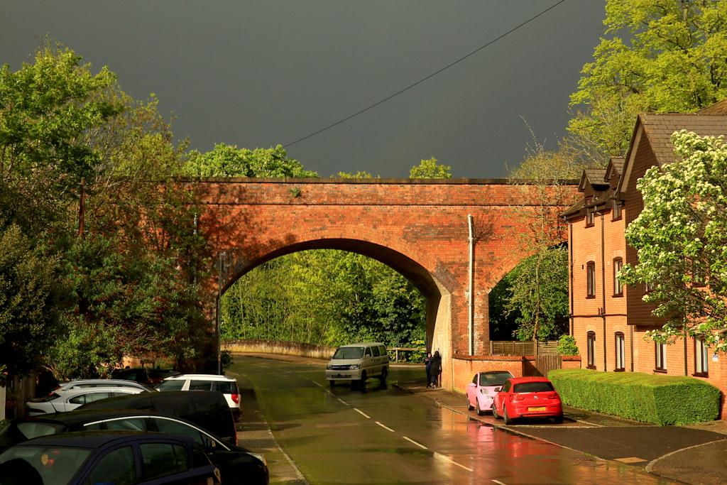 sun and rain in Hunter St.