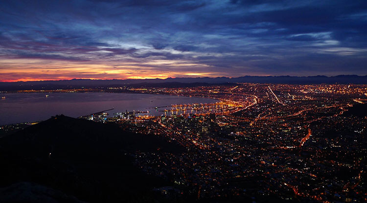 Cape Town at South Africa