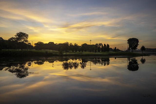 Sunrise Reflections at Lower Seletar Reservoir