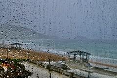Tiempo de hoy a la mau00f1ana en la playa de Zarautz