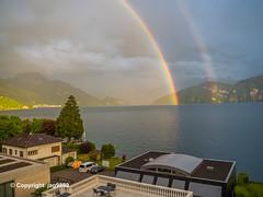 Rainbow over Lake Lucerne, Switzerland