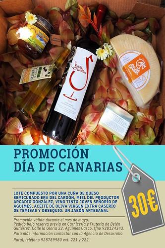 Cartel de la promoción de lotes con motivo del Día de Canarias
