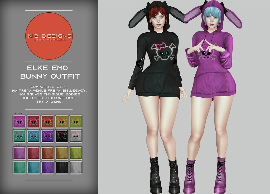 KiB Designs – Elke Emo Bunny Outfit @101L Event 19th May