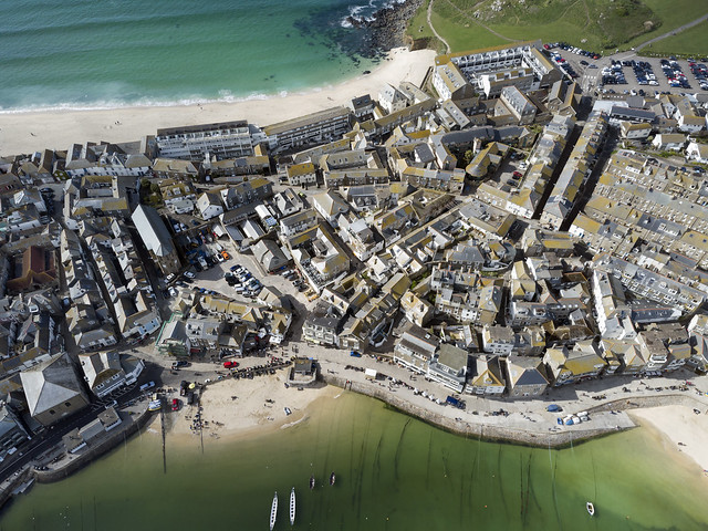 St Ives aerial image - Cornwall UK