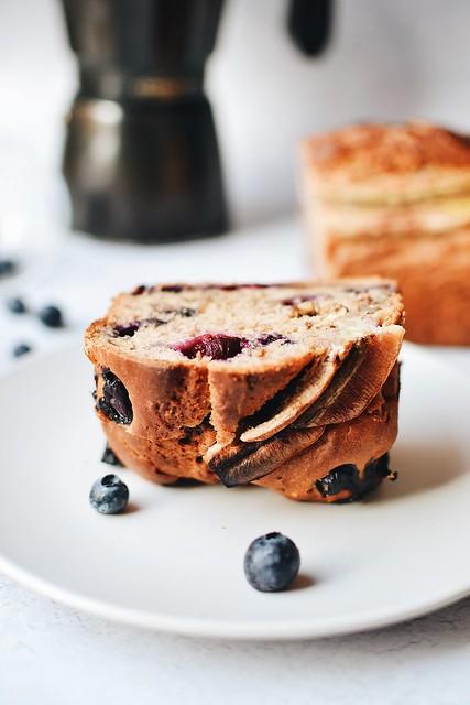 Vegan Banana Bread with cranberries