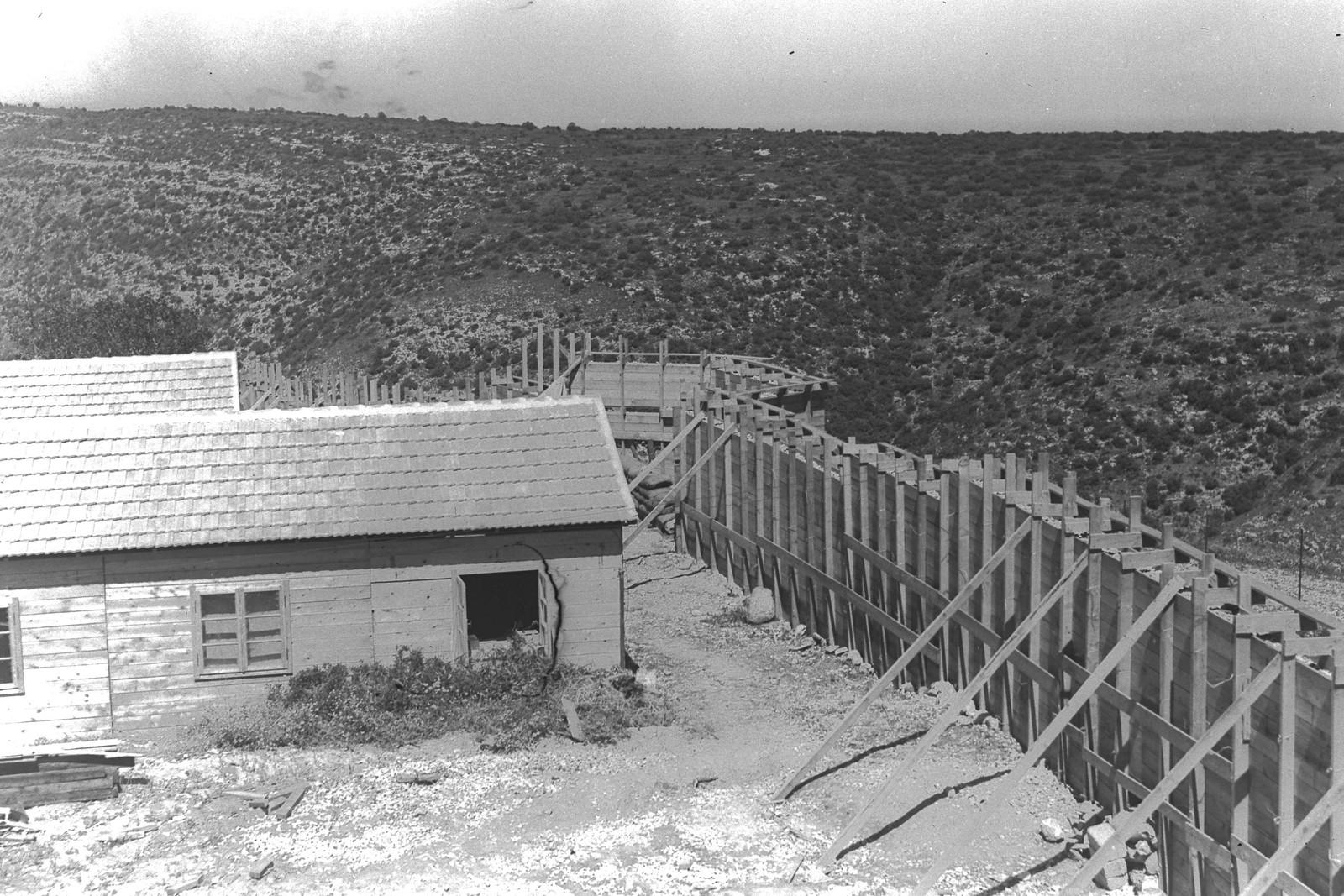 1938. Первые дома в кибуце Ханита