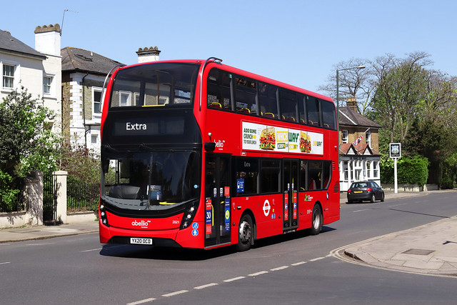 Strike Extra: Route 267, Abellio London, 2021, YX20OCD