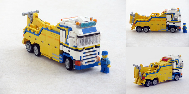 Minifigure scale RC Scania recovery truck