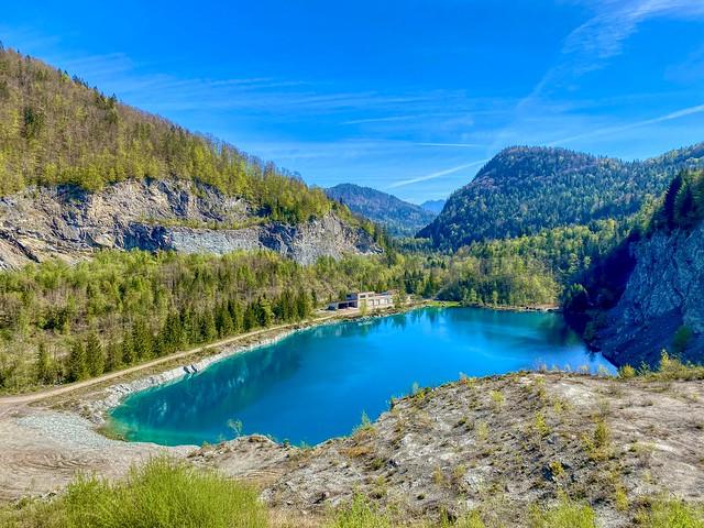 Old quarry lake near Thierberg in Tyrol, Austria