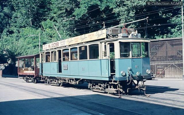 Trains du Lausanne-Moudon (Suisse)