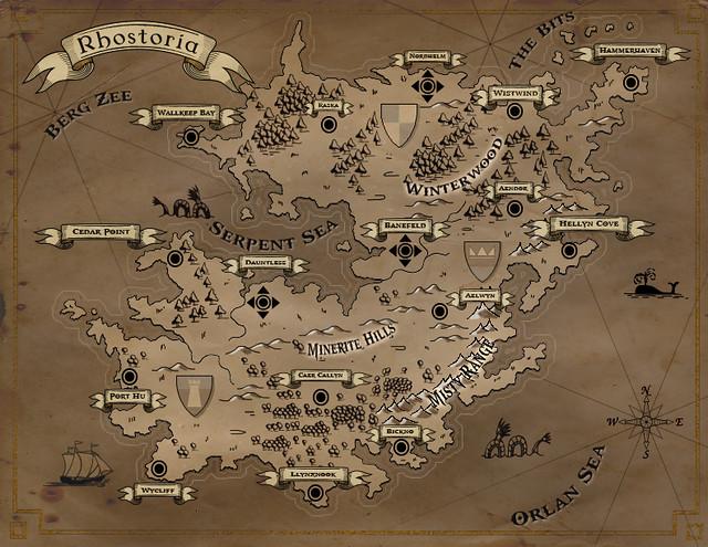 Fantasy Map of Rhostoria