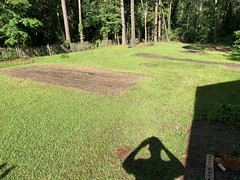 Another day of using the tiller in the backyard