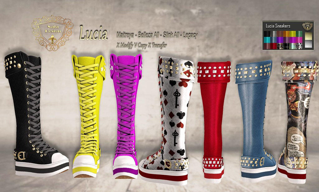 Nala Design – New Release – Lucia High Sneakers