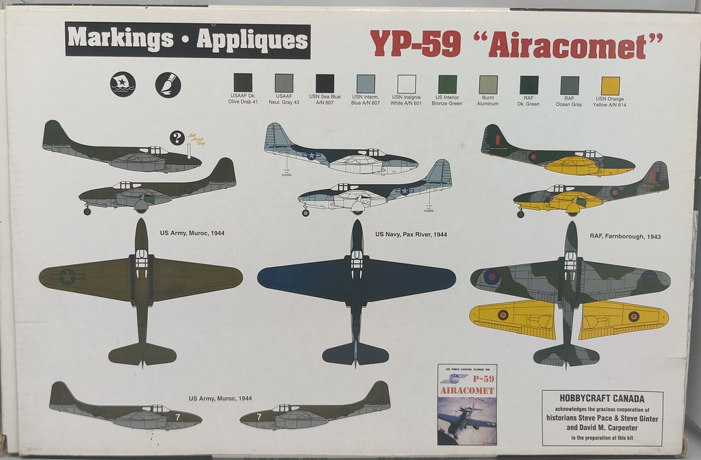 Bell YP-59 Airacomet (Hobbycraft 1:48) 51182825281_dc8a93d56c_b