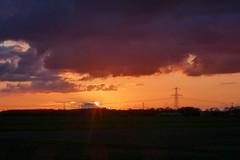 Zonsondergang vanaf de Middenweg Emmercompascuum