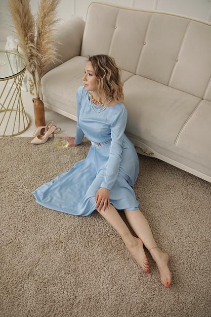 Light blue dress 7