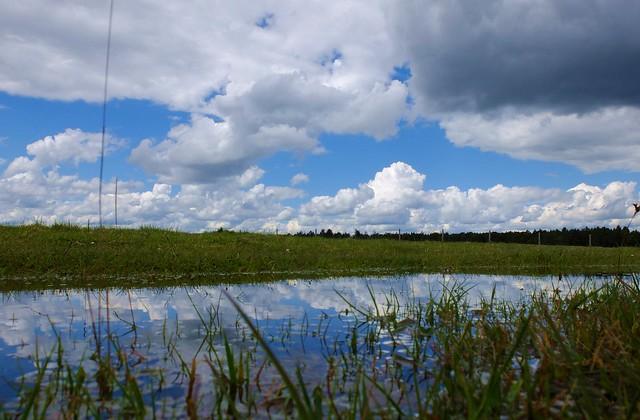 Munich - Clouds in a puddle