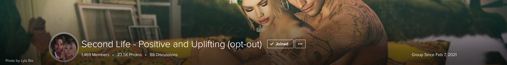 Second Life - Positive and Uplifting (opt-out)