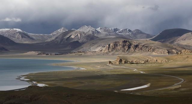 Landscape around lake Namtso, Tibet 2019