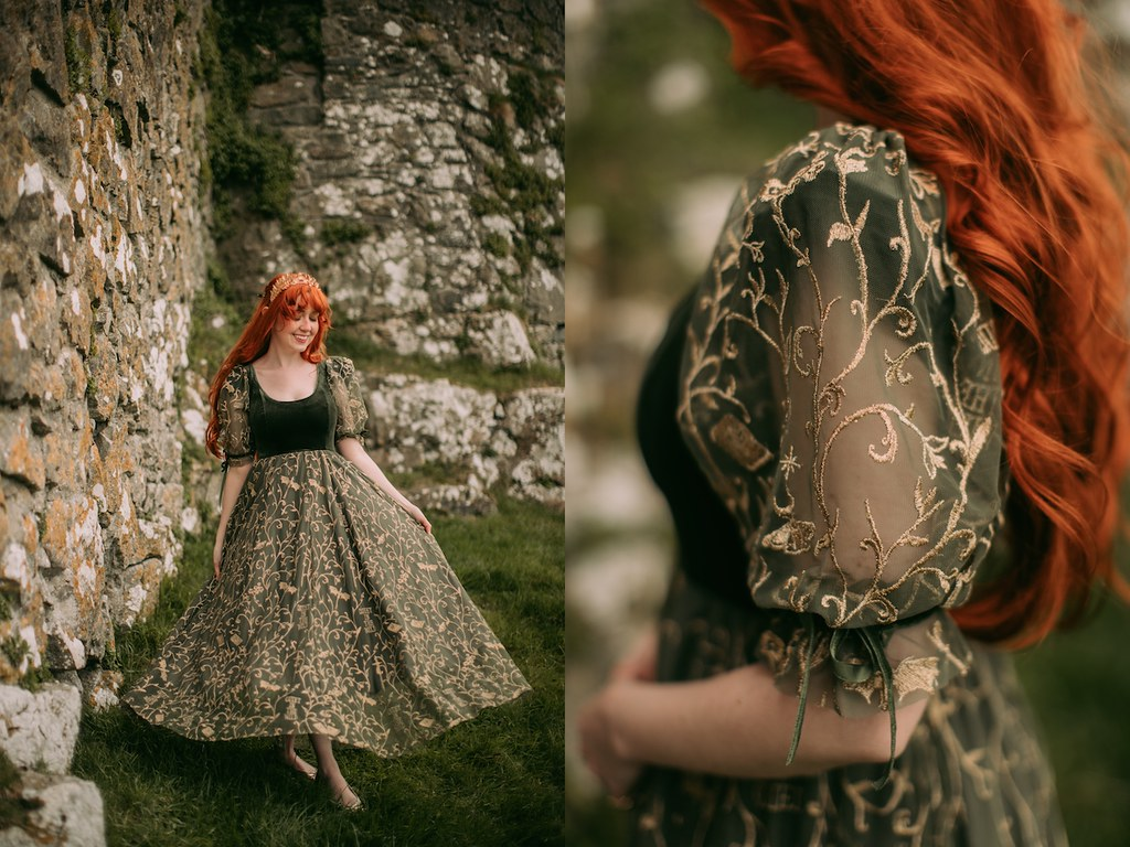 fairycore, fairycore dress, dragon dress, book dress, booknerd dress, dream dress