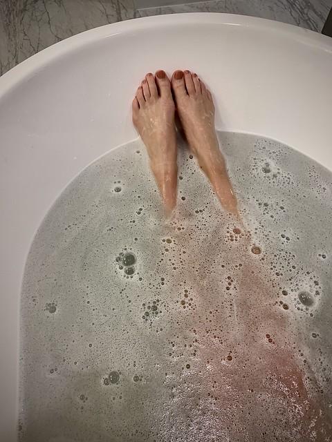 Goddess in the tub.