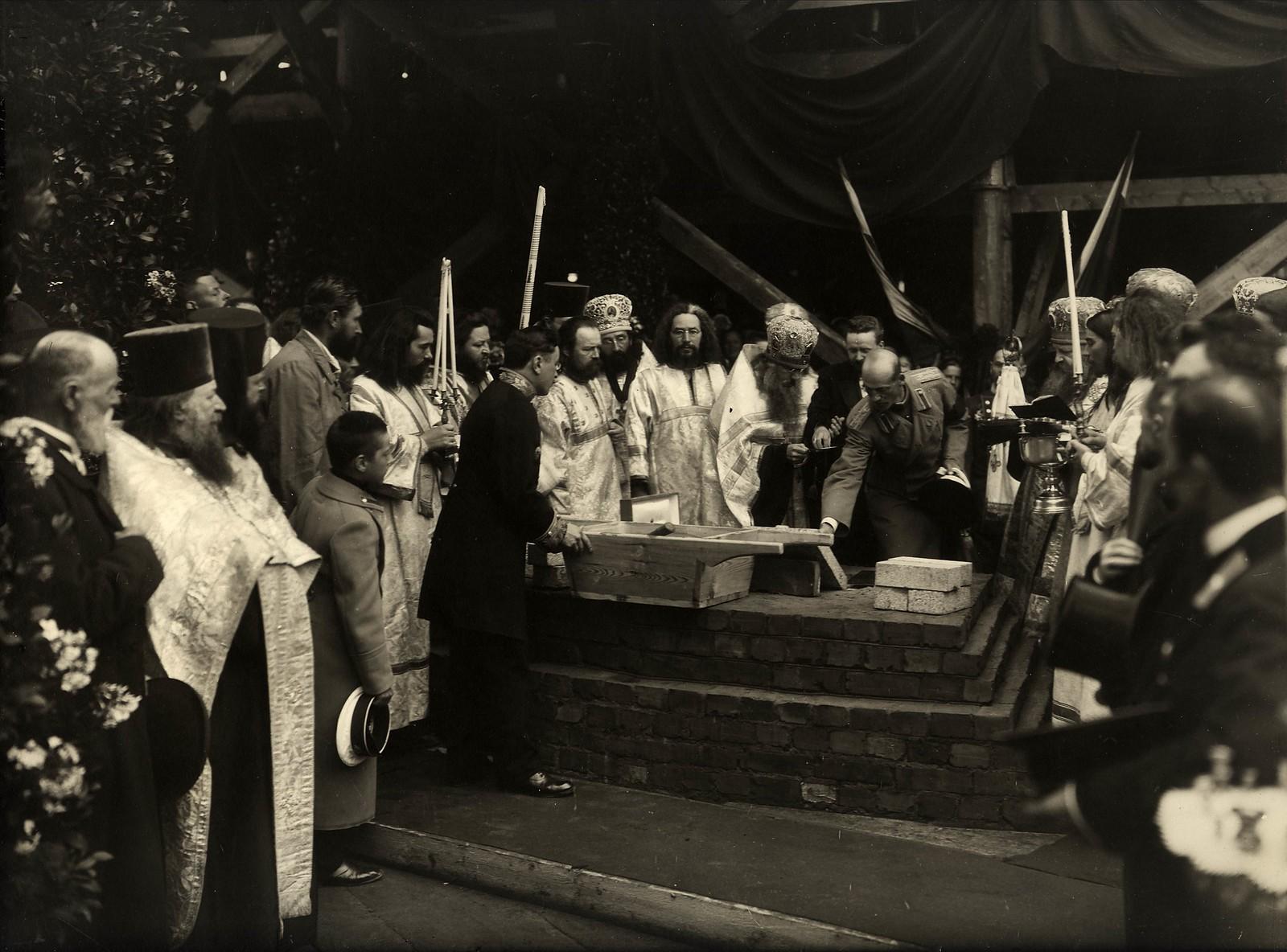 01. 1911. Закладка фундамента Феодоровского собора