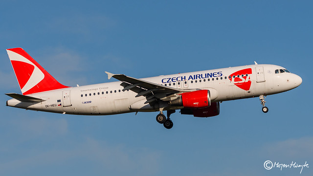 Czech Airlines (CSA), Airbus A320-214, OK-HEU,1885, May 16, 2021