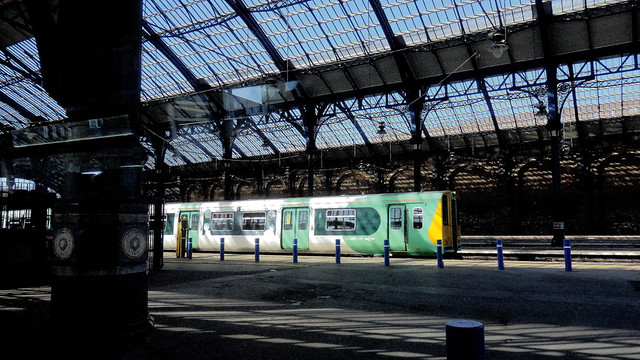 Southern Railway Electric Unit at Brighton Station.