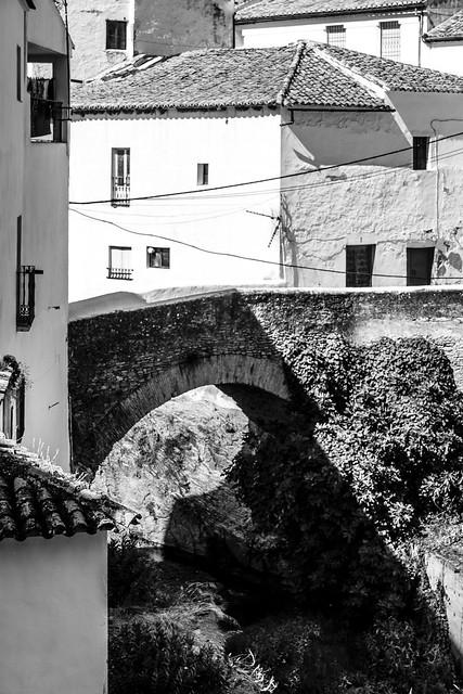Spain - Cadiz - Setenil - Bridge over river Trejo