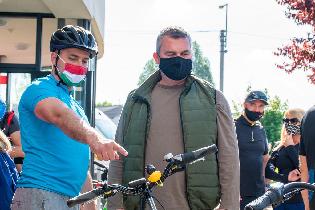 Több mint hetvenen vettek részt a Tisza-tavi tókerülő kerékpártúrán