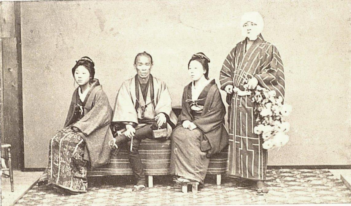 Портрет купцов с гейшами