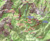 Carte IGN du secteur Carciara/Chemin de Paliri avec le tracé de l'entretien du 15/05/2021