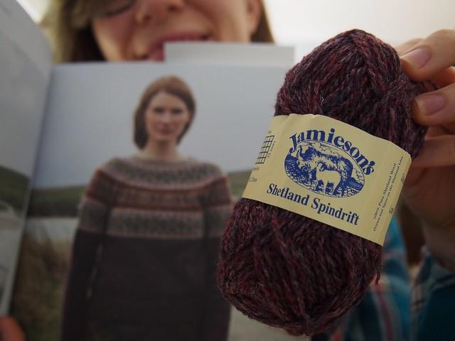 "What I'm making: Bressay yoke sweater from Marie Wallin's ""Shetland"" book"