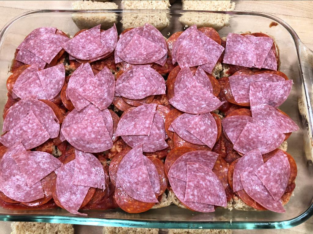 meat on pizza sliders